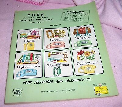 Vintage York PA April 1964 Telephone & Telegraph  Book