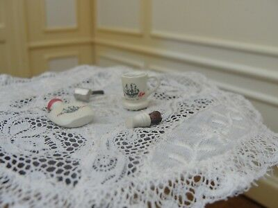 Dollhouse Miniature Old Spice Shaving Accessories