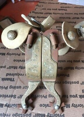 Mounted Cowboy Spurs With Straps