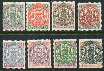 RHODESIA 1897 MH Unused (£1) lot to 1 POUND 8 Stamps