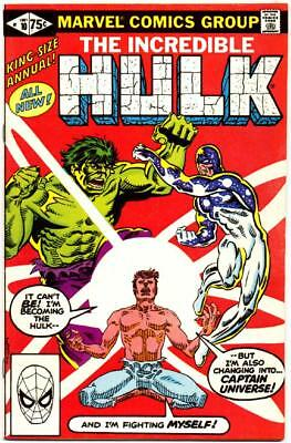 Incredible Hulk Annual 10 Captain Universe Marvel Bronze Age Giant 1981 Nr