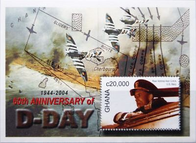 GHANA 2004 Block 461 S/S 2430 D-Day WWII World War Krieg WKII Militär MNH