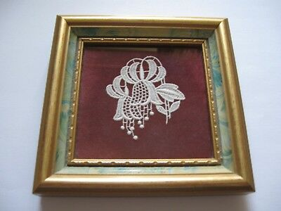 Framed Lace Art, Floral, From 'The Abbey Lace Collection'