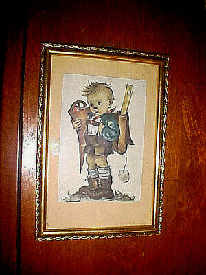Cute Hummel Boy Framed Picture Excellent Condition Frame Size 5 1/4 X 7 5/8