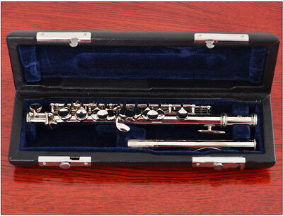 A10 C Key Silver Plated Professional Musical Instrument  Piccolo With Case Bag O