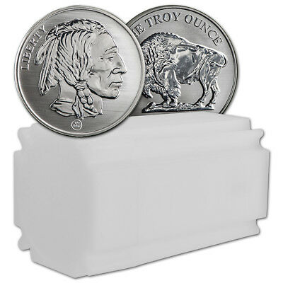 1 oz Silver Round RMC Republic Metal Reverse Proof Buffalo (1 Roll Tube of 20)