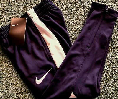 NWT Boys Nike 6 Navy Blue/White Ankle Zipper Athletic Track Pants Size 6