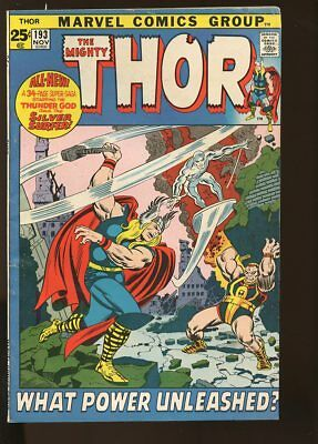 Thor #193 Very Good+ Silver Surfer 1971 Marvel Comics