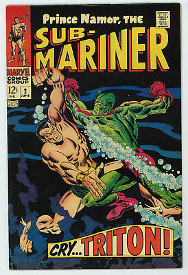Sub-Mariner #2 6.5 1968 Silver Age Off-White To Tan Pages