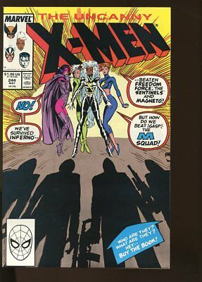 UNCANNY X-MEN #244 NEAR MINT 1st JUBILEE 1989 MARVEL COMICS