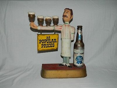 Vintage Pabst Joe The Bartender Statue