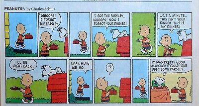 Peanuts by Charles Schulz - lot of 50 color Sunday comic pages from 1998