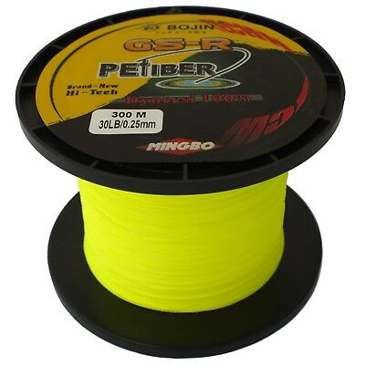 Gsr Pefiber Braid Fishing Line 30Lb Yellow 300M, Made From 100% Uhmwpe Dyneesi