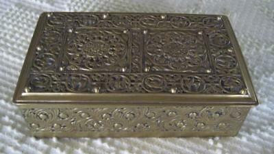 """Erhard and Sohne Gilt Brass Jewelry Casket  5.75"""" X 3.5"""" X 2""""  Made in Germany"""