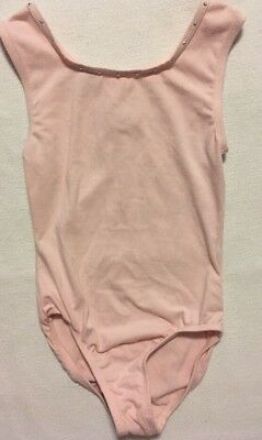 freestyle a Danskin company Girl's Cotton Tank Leotard - Dance - Medium 7/8 Pink