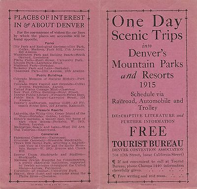 One Day Scenic Trips Into Denver's Mountain Parks & Resorts. 1915.
