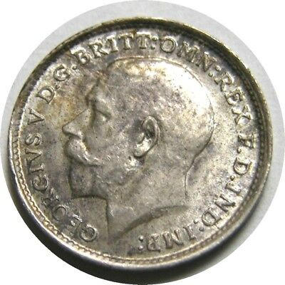 elf  Great Britain 3 Pence 1912 Silver  George V