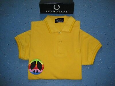 Fred Perry X RAINBOW PEACE custom polo shirt. Cool colour way.More listed!