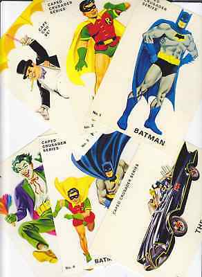 1960's Facsimile BATMAN Postcards - Set Of 6 - Batmobile Joker Penguin Robin TV