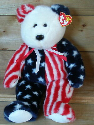 Ty Beanie Buddy Spangle, USA Teddy, ca. 34 cm