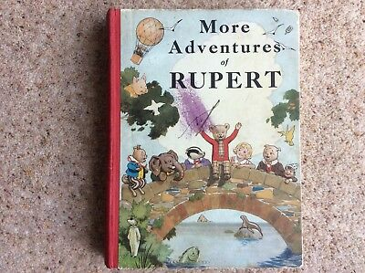 Original Rupert Annual Book From 1937 In Amazing Condition