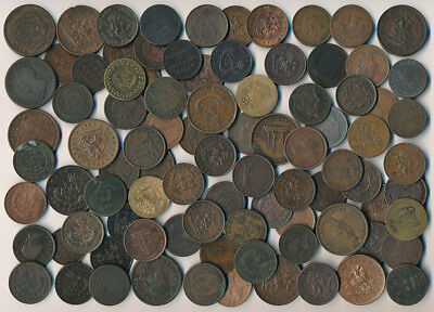 89 Early Canada Coppers (Collectible Old Tokens & Coins See Pictures) No Reserve
