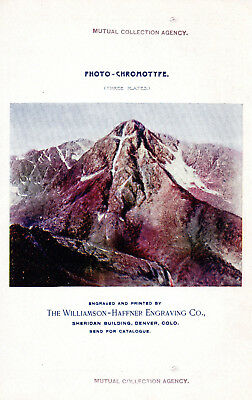 1896 Williamson - Haffner Engraving Company, Denver, Two-Sided Color Picture Ad