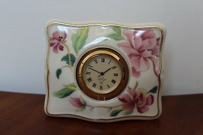 Lenox China Rosebud Clock With Second Hand ~ Works Great