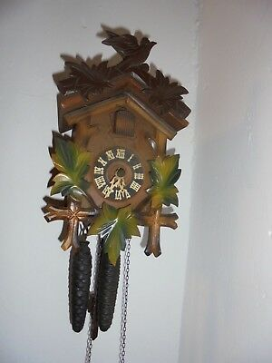 Vintage Wooden CUCKOO CLOCK - SPARES & REPAIRS - MADE IN  GERMANY ATTIC FIND