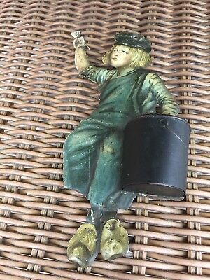 Vintage 1920's Painted Tin Dutch Boy  Paint Advertising Item By Art Sign Co. N.y