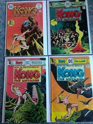 Kong The Untamed lot of 4.  #1, 2, 4, 5   1975