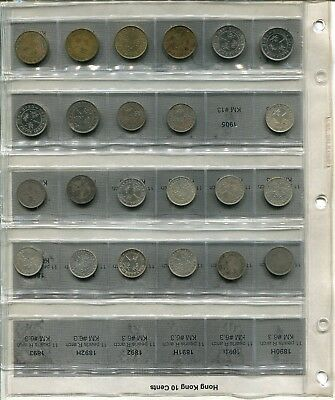 131 Coin Hong Kong 1C-10C Coin Collection with SILVER Coins, Check it out.