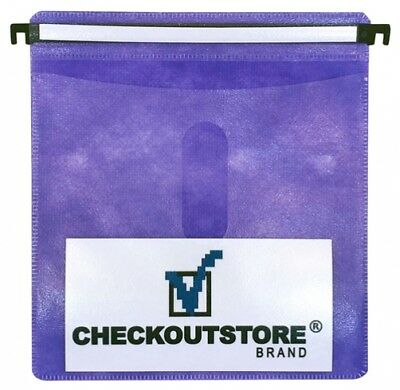 (SAMPLE) - 1 CD Double-sided Refill Plastic Hanging Sleeve Purple