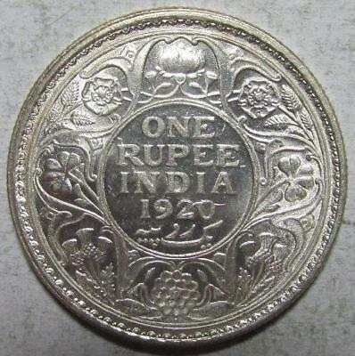 India, Rupee, 1920(b), Frosty Brilliant Uncirculated, .3438 Ounce Silver, #1