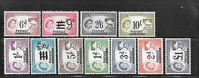 NYASALAND Sc 112-22 NH ISSUE OF 1963 - OVERPRINTS