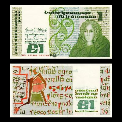 "1984 Ireland ""queen Medb"", £1 - » Best Note «"