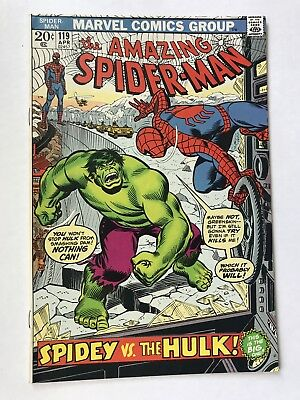 AMAZING SPIDER-MAN #119 April 1973 Vintage UNREAD Incredible HULK