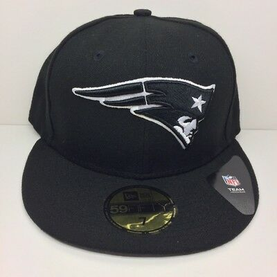New Era 59FIFTY New England Patriots NFL Authentic Fitted Black White Cap 392943b23