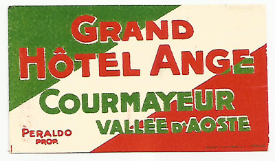 GRAND HOTEL ANGE luggage label (COURMAYEUR)