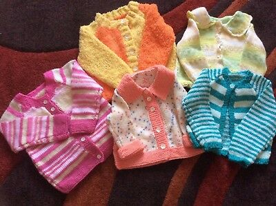 hand knitted baby cardigans bundles