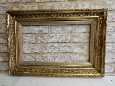 """really old picture frame fits a 18 inch X 10 """" painting"""
