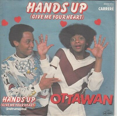 """7""""-  Ottawan = Hands Up (Give Me Your Heart) ......................1981"""