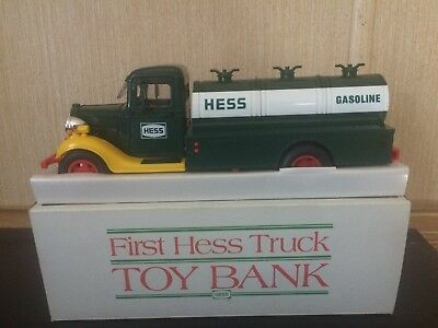 1985 First Hess Truck Toy Bank Excellent Preowned Condition