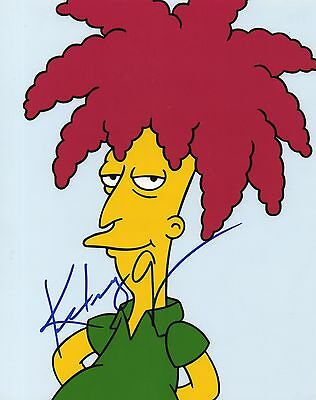 KELSEY GRAMMER AUTOGRAPHED 8  x 10 OF SIDESHOE BOB FROM THE SIMPSONS