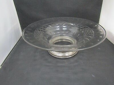 Sheffield Silver Co. Glass Centerpiece With Sterling Silver Base