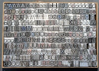 24pt Univers Part Font. Metal  letterpress Type # ADANA EIGHT FIVE  8 x 5 user