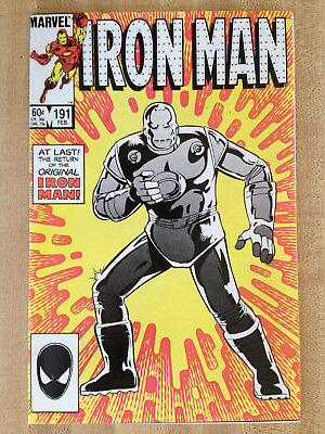 IRON MAN #191 NM 1985 Original Parker Brothers Risk Board Game Ad L@@K WOW!!!