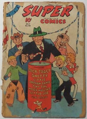 SUPER COMICS #50 July 1942 Dell poor condition reader