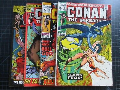 Marvel Conan The Barbarian #9-12 Barry Smith 1971 10,11 Giant Size
