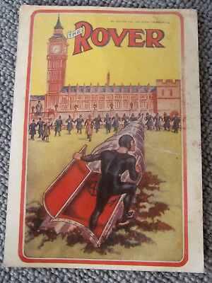 ULTRA-RARE DC THOMSOM COLOUR POSTAL PRINT OF COMIC 'THE ROVER' FROM 1976 - No.7
